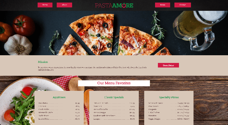 GRA 310 Pasta Amore Website