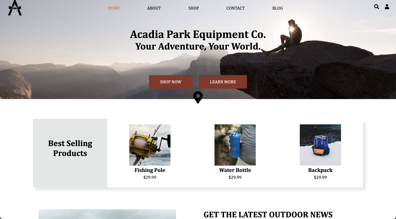 Capstone Refresh - Acadia Park Equipment